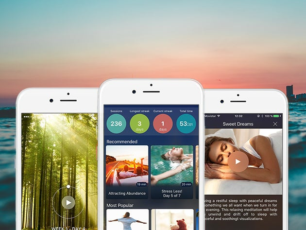 Breethe helps you reduce stress in five minutes with daily meditation