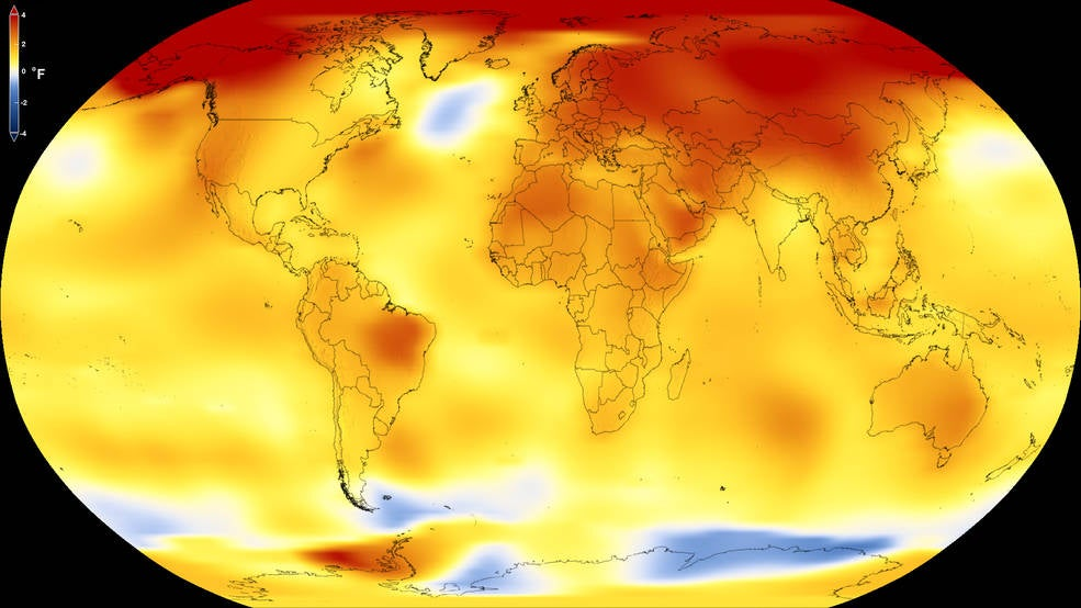 2017 beat the odds to be the second hottest year on record
