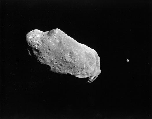 Could an Asteroid Impact Knock the Moon into the Earth?