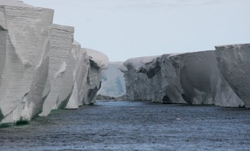A Texas-size chunk of Antarctica partially melted last year