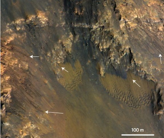 Water May Be Flowing On Mars Right Now