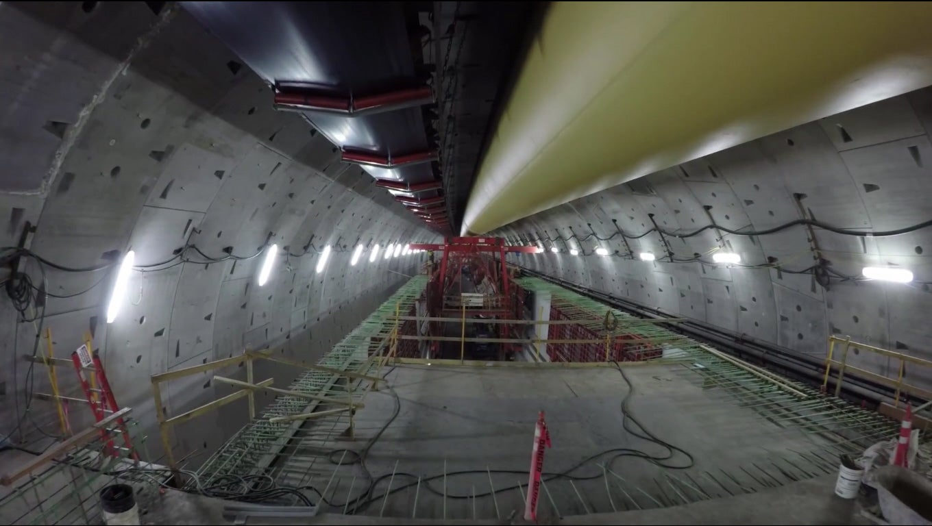 Explore This Giant Tunnel By Drone