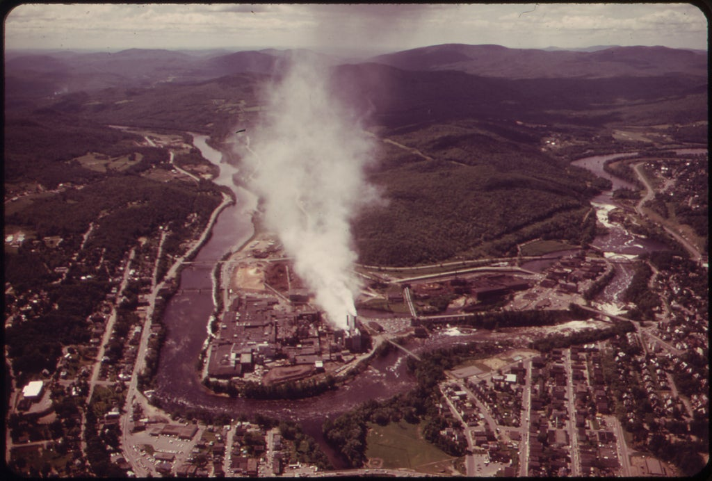 Oxford paper company aerial view