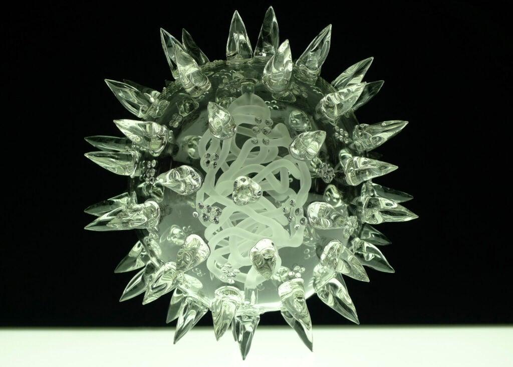 The Glass Microbe by Luke Jerram