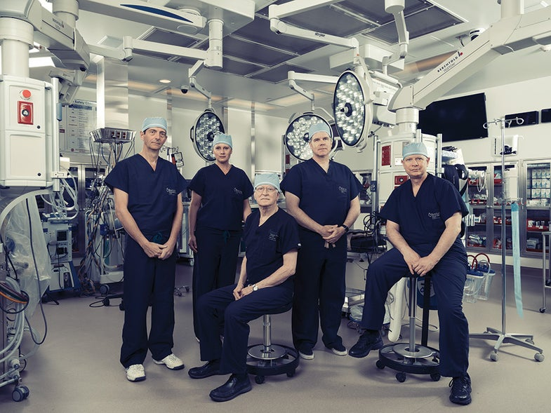 medical staff wearing scrubs in an OR