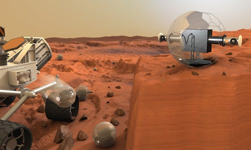 Inflatable Surveillance Balls for Mars
