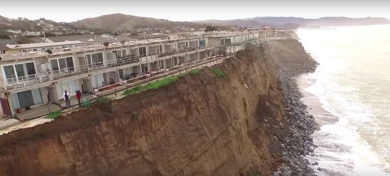 Drones Capture Terrifyingly Sudden Coastal Erosion