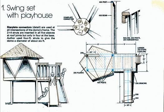 Geometric Swing Set: June 1983
