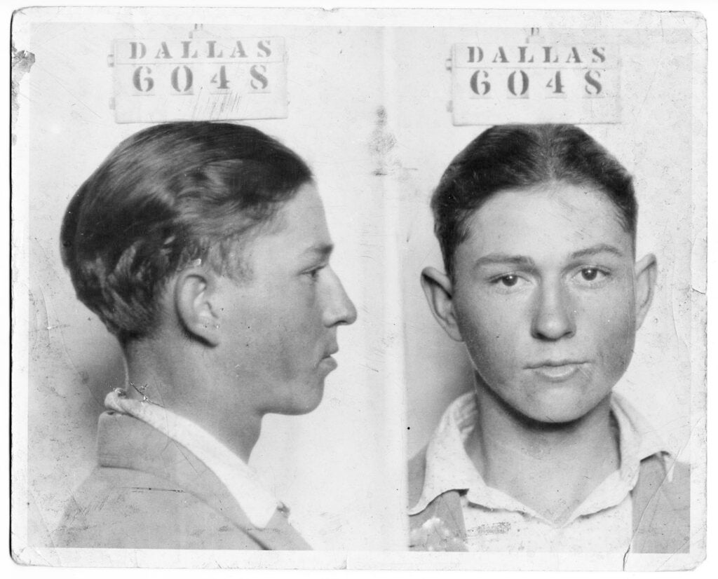 Clyde Champion Barrow mug shot