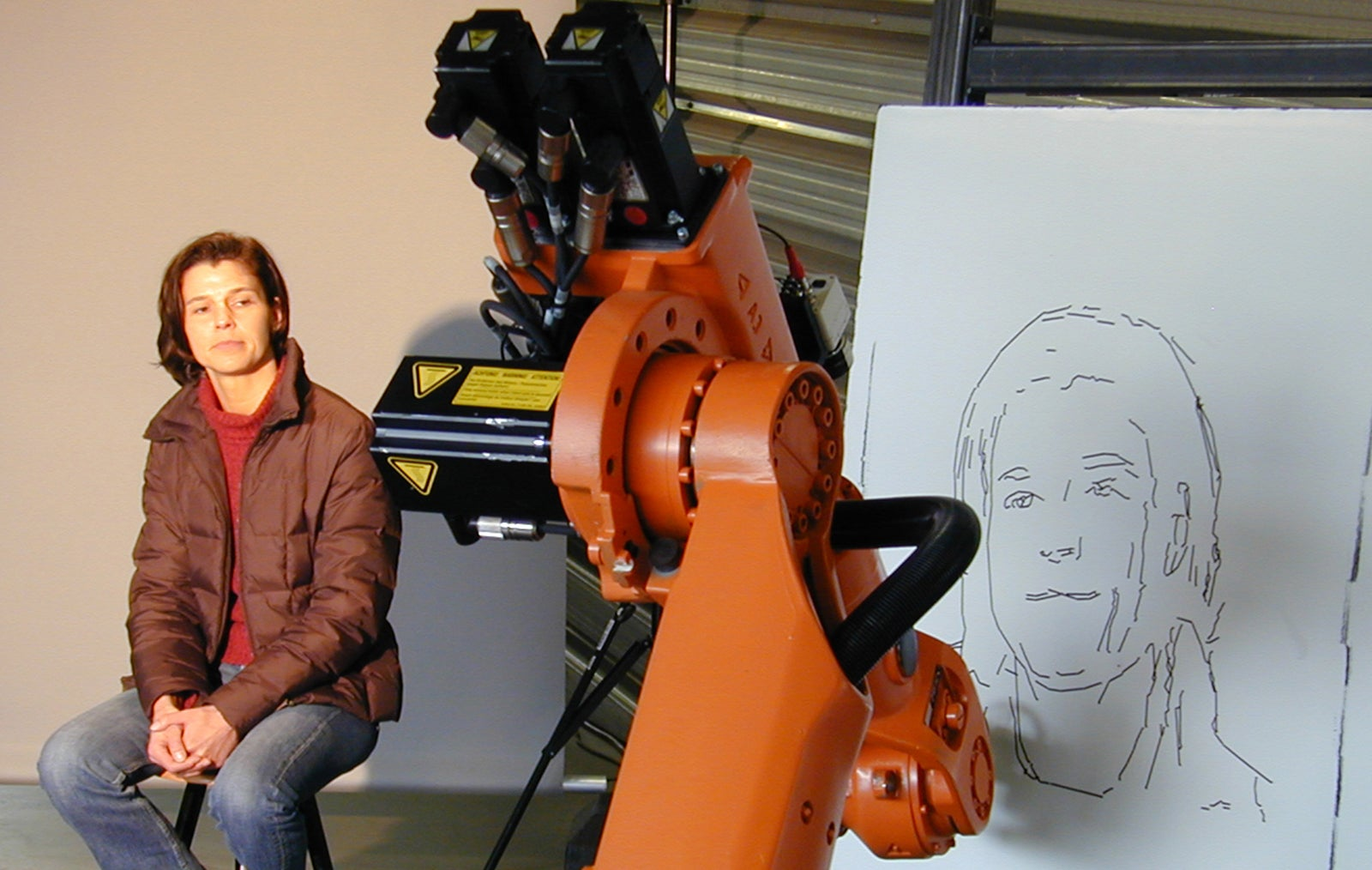 German Industrial Bot Takes Up the Art of Portraiture