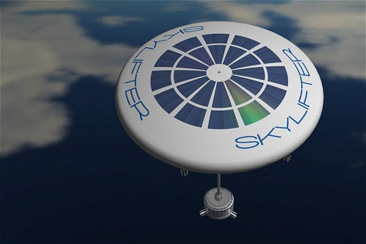 Disc-Shaped Balloon Could Transport Whole Buildings To Remote Areas