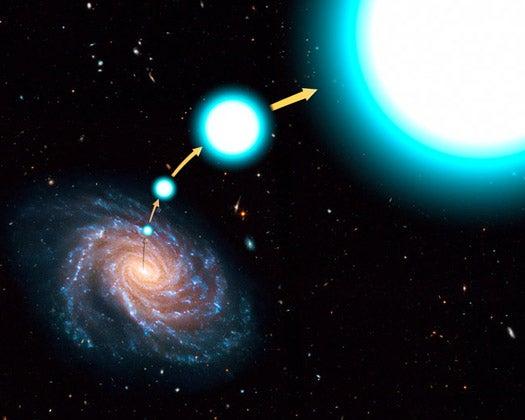 Hubble Spots Hypervelocity Star Speeding From the Milky Way's Center at 1.6 Million MPH