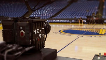 NextVR camera at a 2015 Golden State Warriors Game