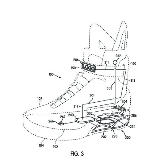 Nike Patents Back-to-the-Future-Style Self-Lacing Shoes