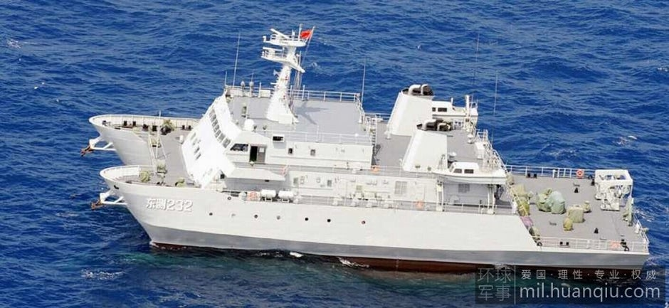 New Chinese Catamaran Spy Ship Learns All About Japanese Water