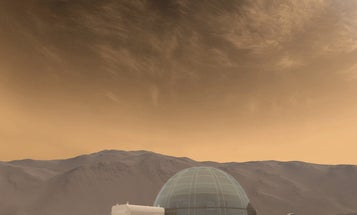 Astronauts could live inside ice domes on Mars