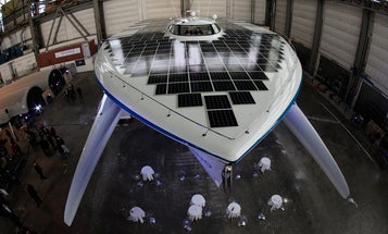 Largest-Ever Solar-Powered Boat Prepares for a World Tour