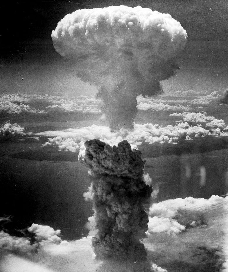 Mushroom Cloud As Seen By Bomber Over Nagasaki