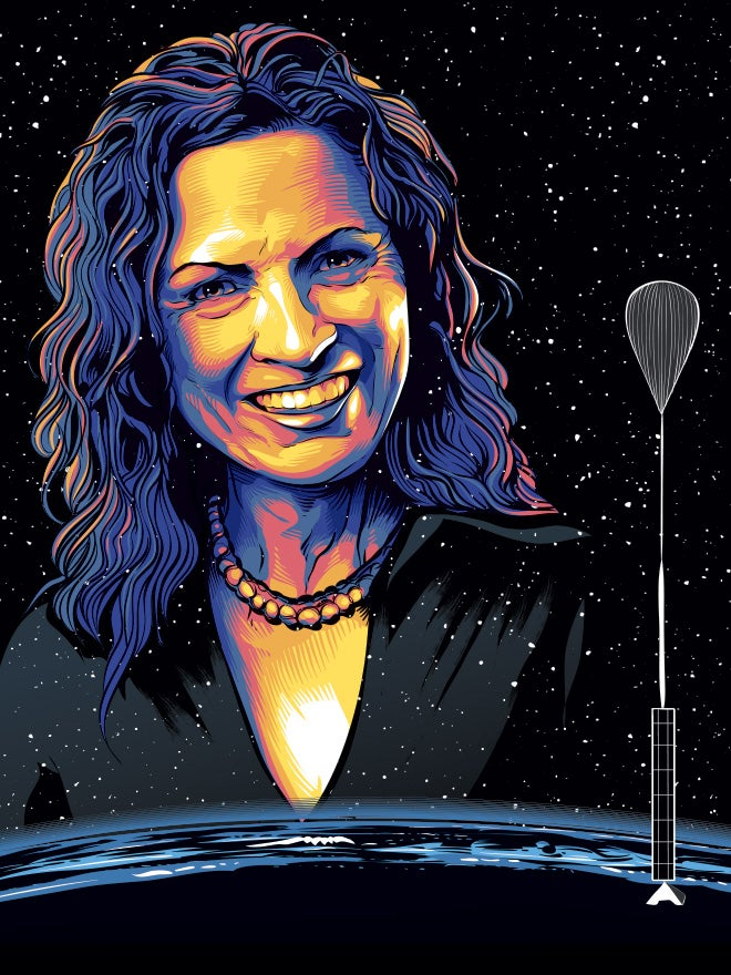 Jane Poynter wants to send you to the edge of space in a very big balloon