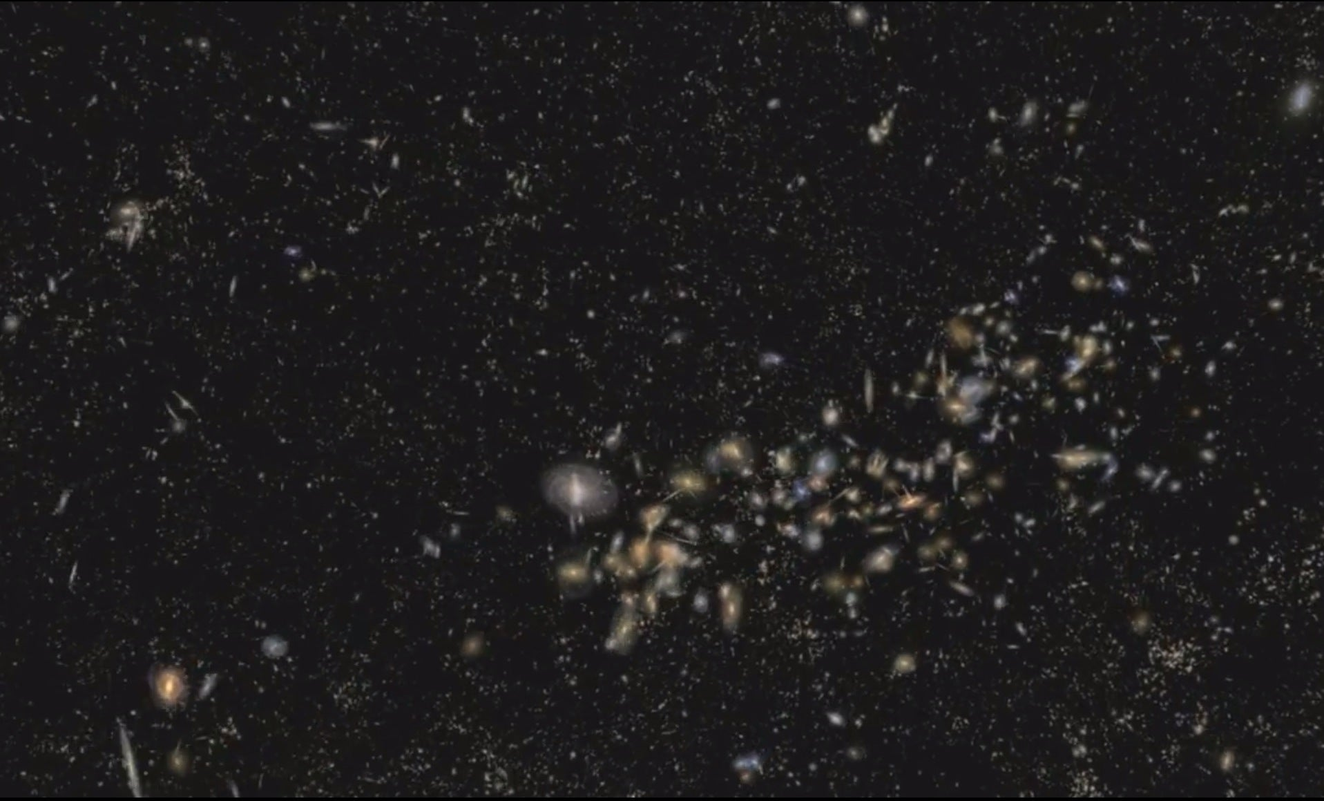 Video: Fly Through A Billion Light Years of the Universe, Past Galaxy Clusters and Dark Matter