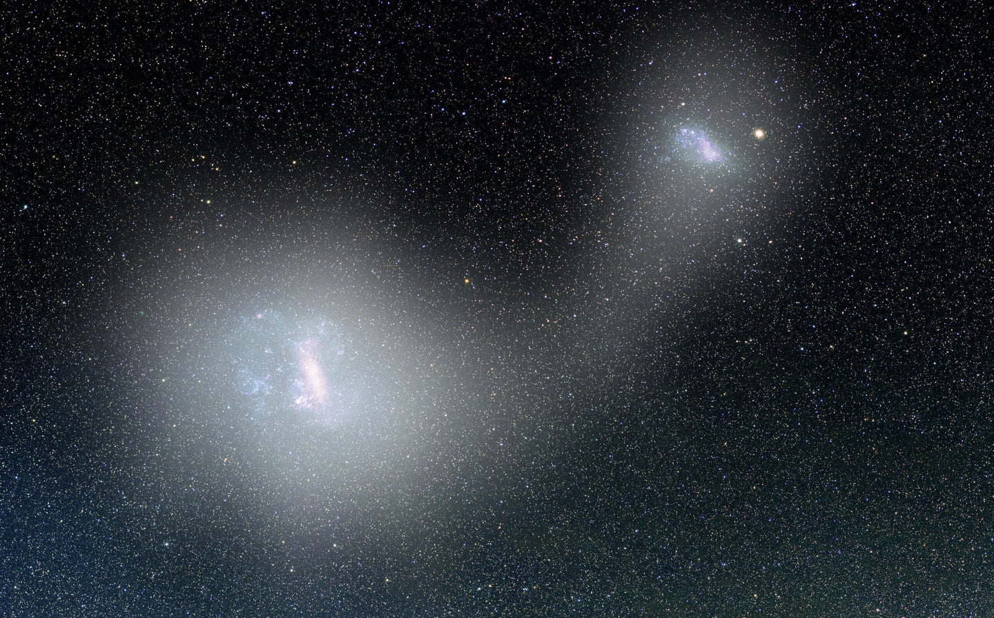 A 'bridge of stars' connects two of our closest galaxies