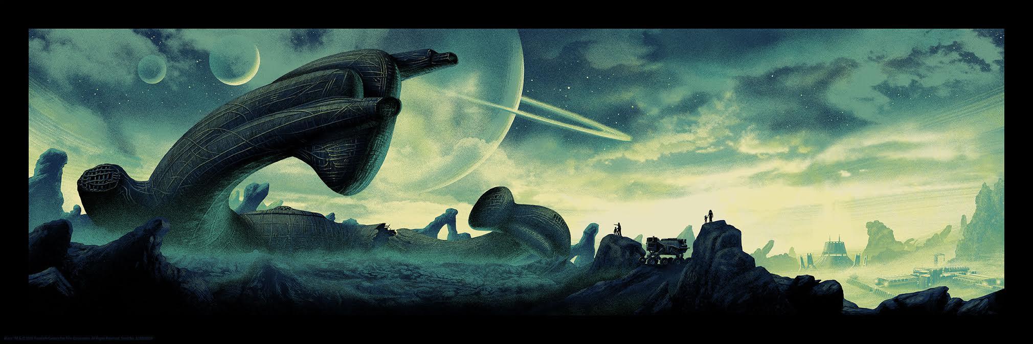 'Alien' limited edition print from Mark Englert at Bottleneck Gallery