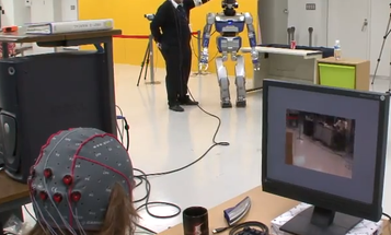 Watch A French Researcher Control A Robot With His Brain