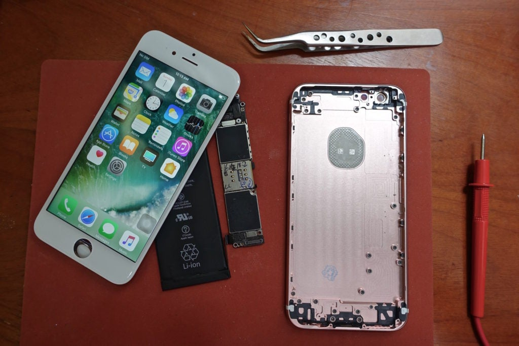 Basic parts in an iPhone