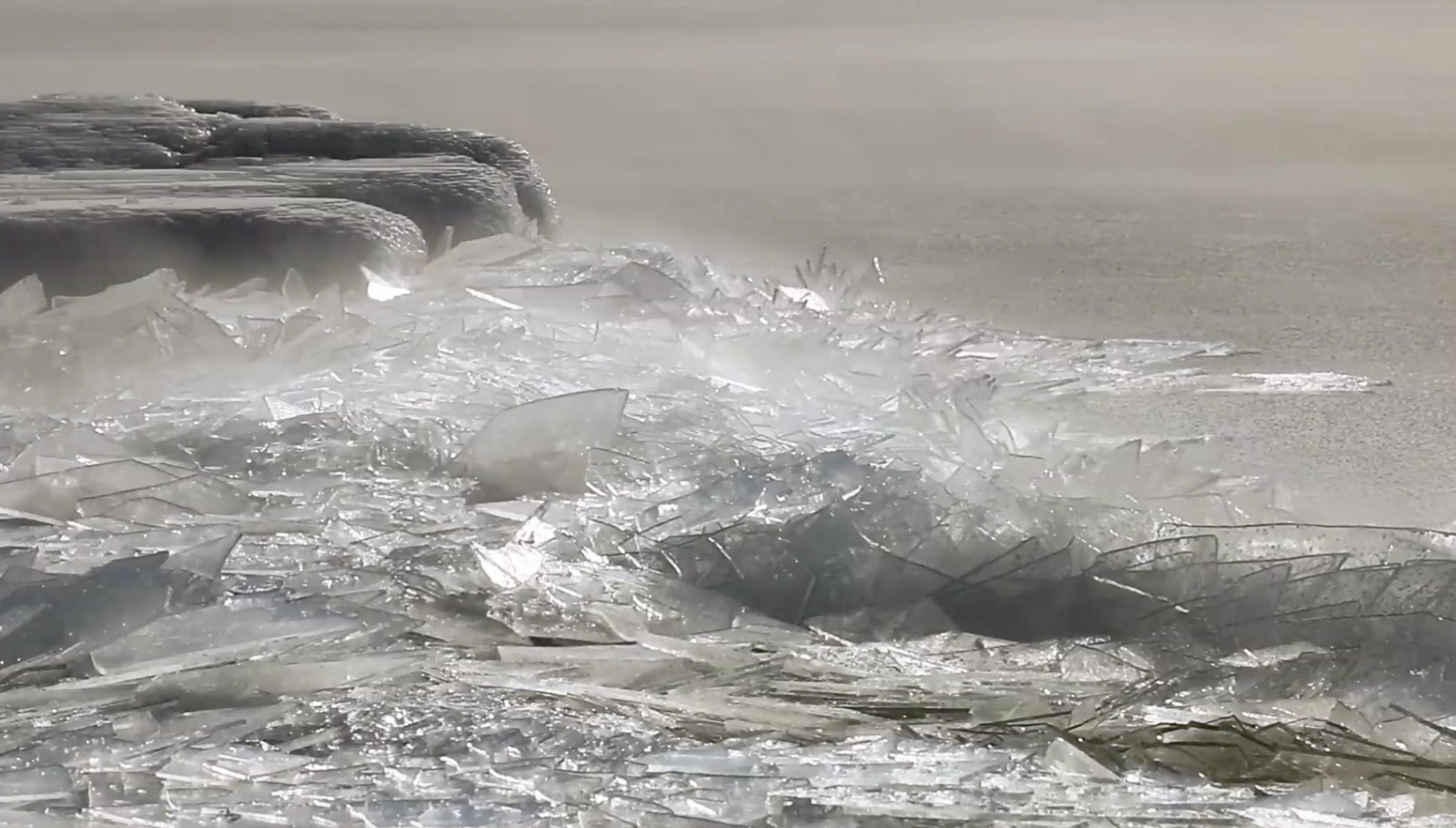 Why Lake Superior's Ice Looks Like A Pile Of Broken Glass