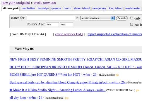 Craigslist Moves to Limit Prostitution