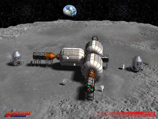 Space Hotel Pioneer Bigelow Envisions Inflatable Moon Bases