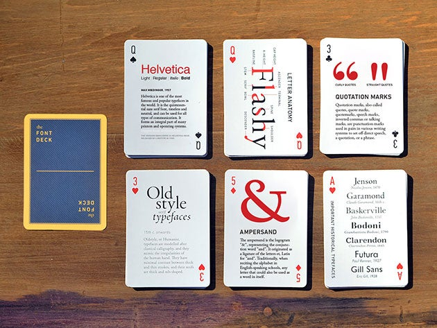 These playing cards help you learn about design