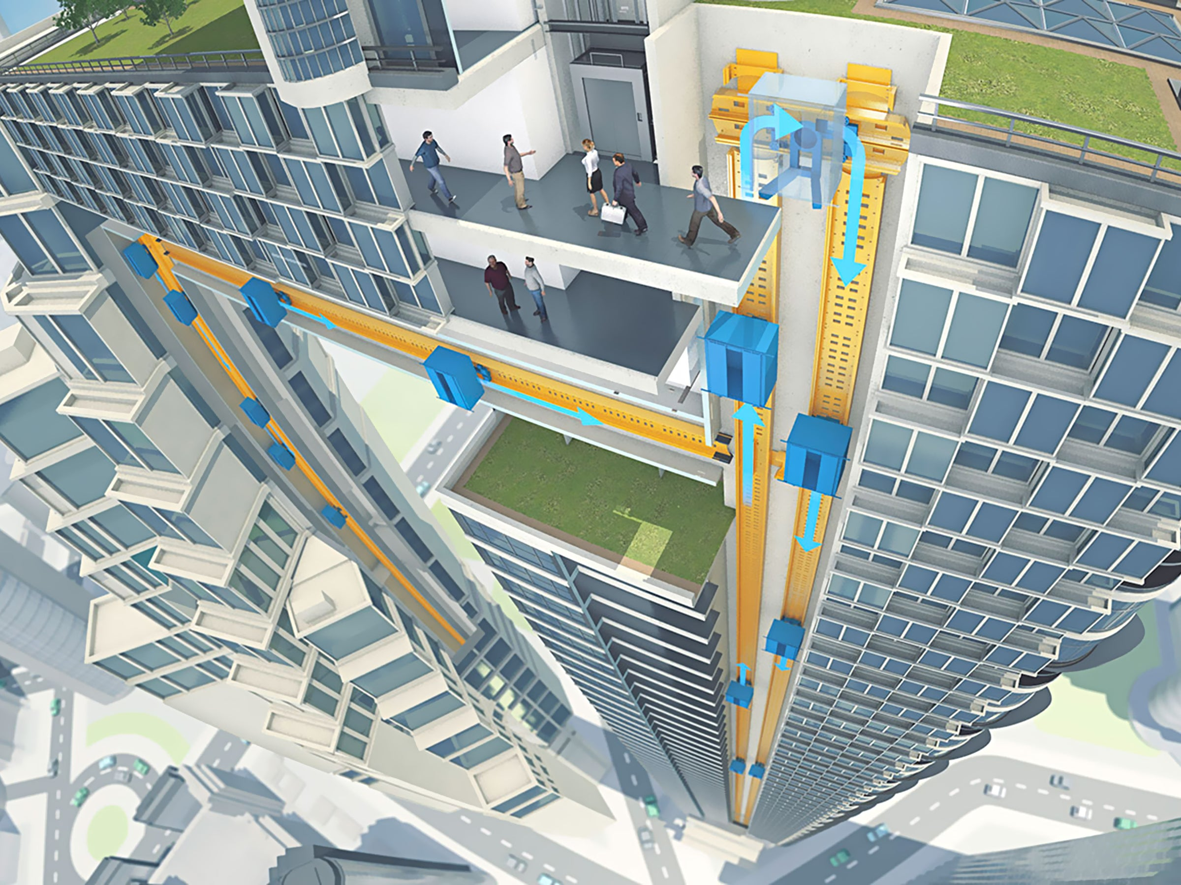 Magnetically Levitating Elevators Could Go Up, Down, And Sideways