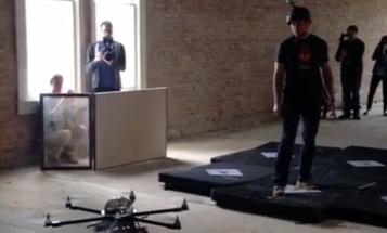 Watch A Stun Gun Drone Tase An Intern