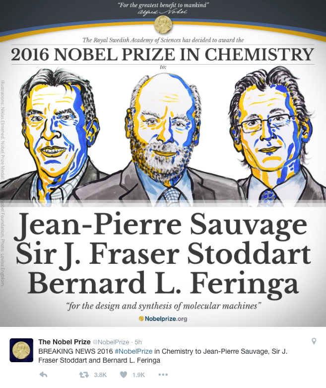 Chemistry Nobel Prize Awarded For World's Smallest Machines