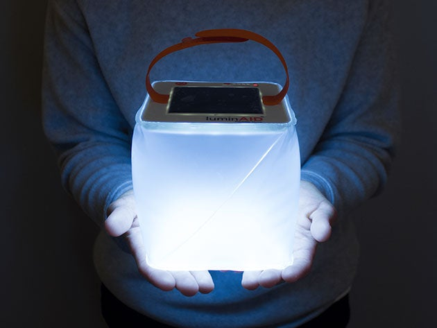 The LuminAid inflatable lantern Is the perfect light for outdoor adventures