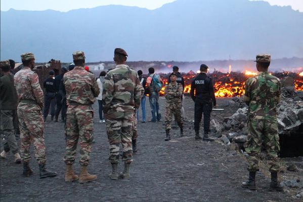 Bystanders Watch Cape Verde Eruption