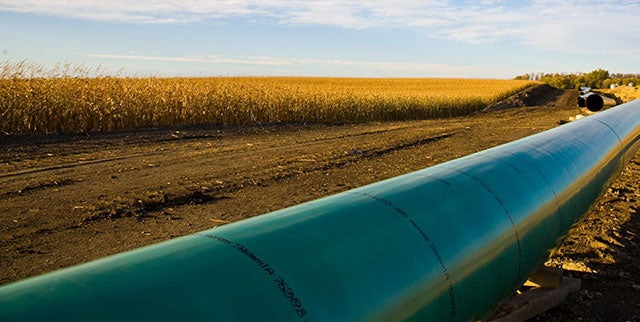Keystone XL pipeline image