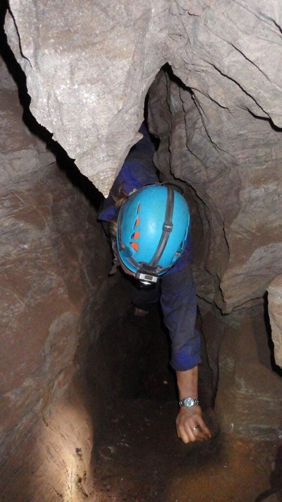 Dr. Marina Elliott working in the Dinaledi Chamber