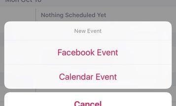You Can Now Use Facebook As Your Calendar App