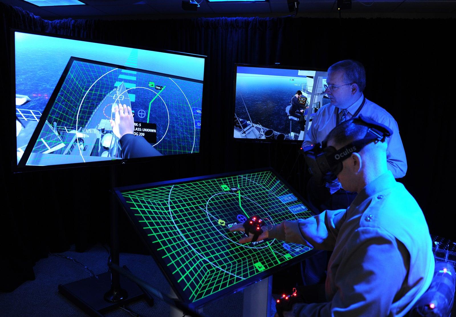 Big Pic: The U.S. Navy Tests A Virtual Reality Headset