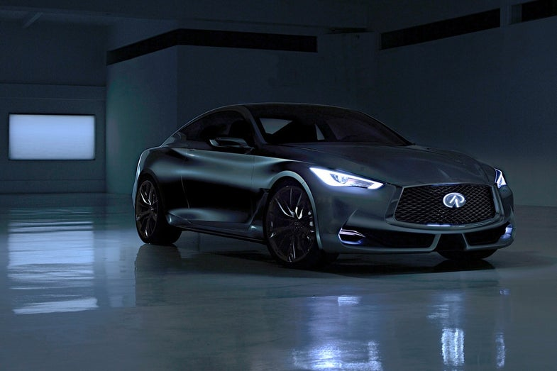 Infiniti Q60 Concept in the shadows