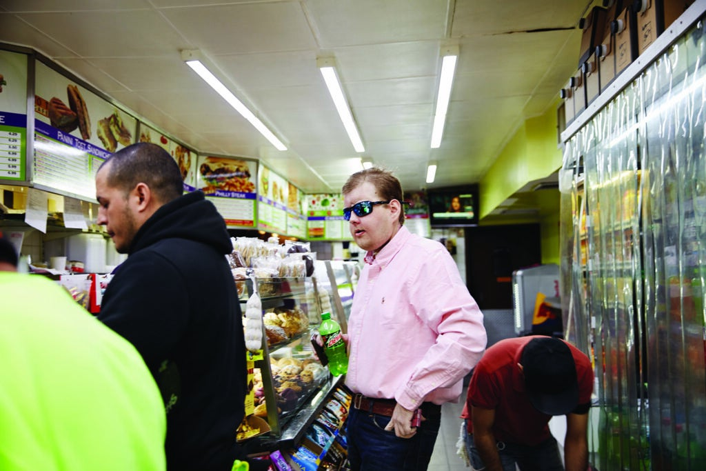 Patrick Hardison at the grocery store.
