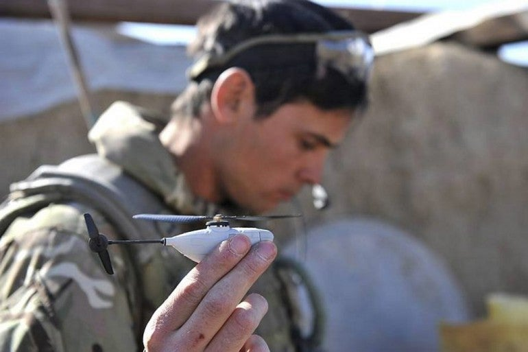 British Troops Deploy The Teeniest Recon Drone