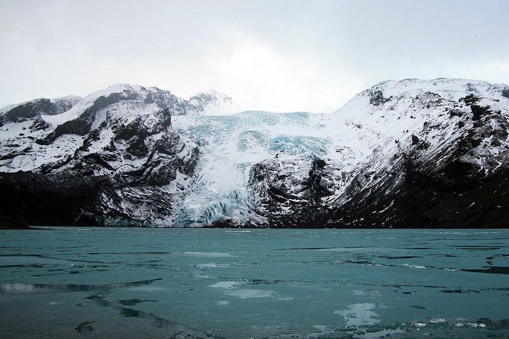 A Glacial Lake Near The Eyjafjallajökull Volcano