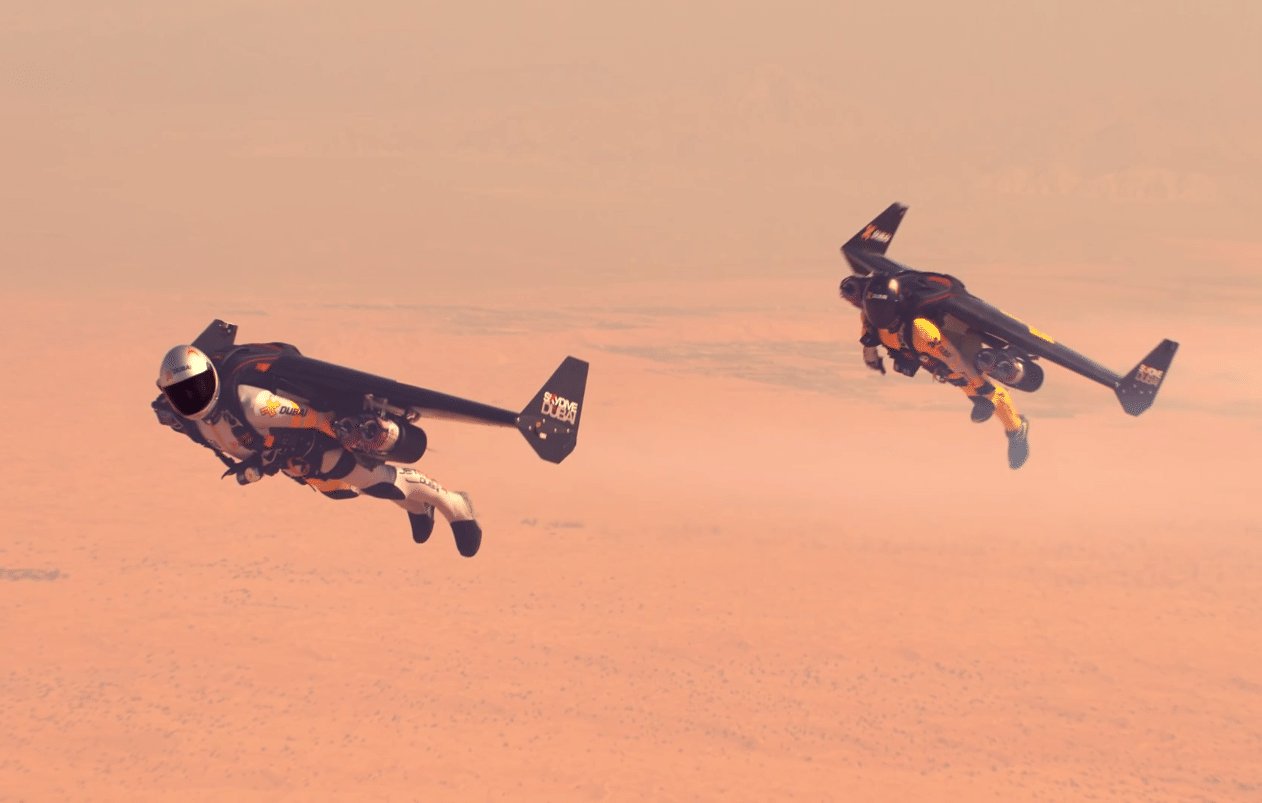 Watch Jetman Fly In Formation Over Dubai In 4K Video