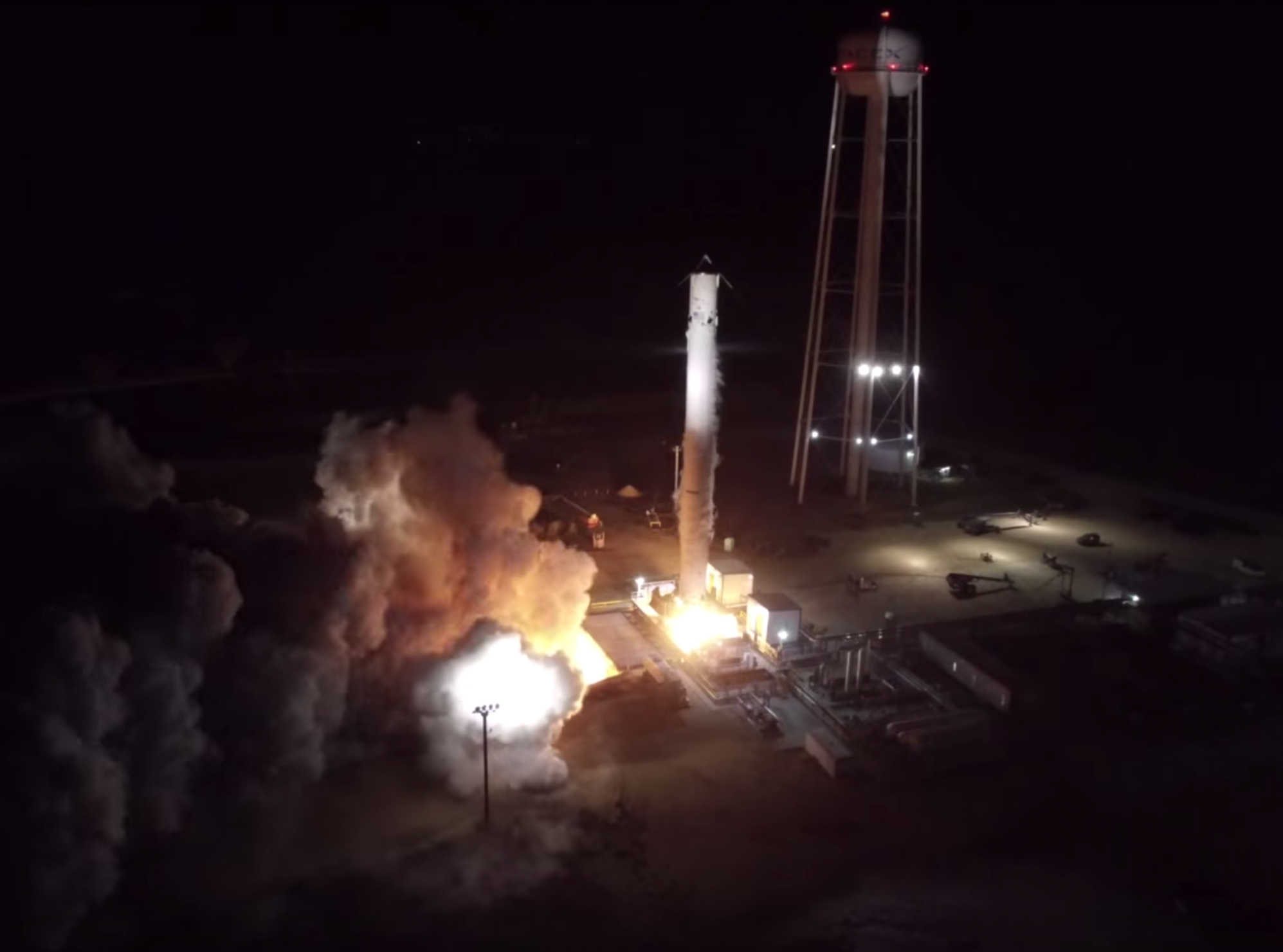 Watch SpaceX Test-Fire Its Upgraded Falcon 9 Rocket Engine