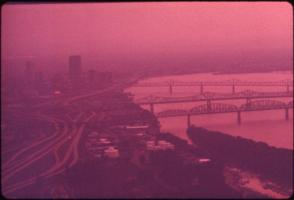 Smog on river