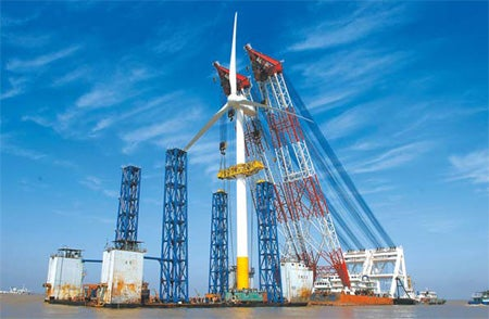 China Powering Up First Offshore Wind Farm