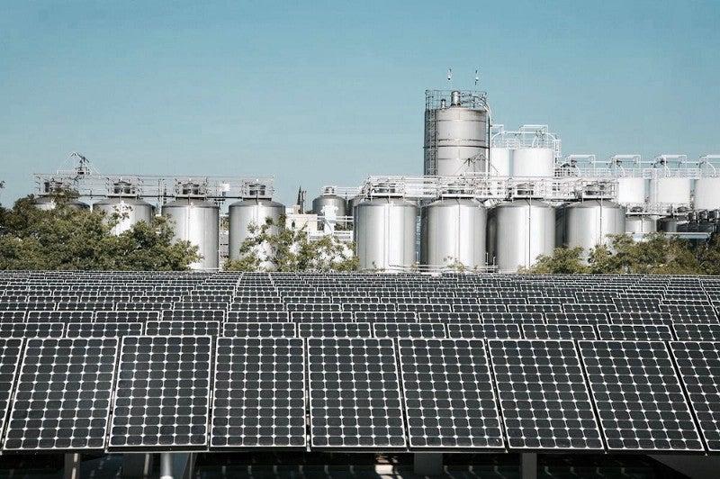 Solar panels at Sierra Nevada's California facility